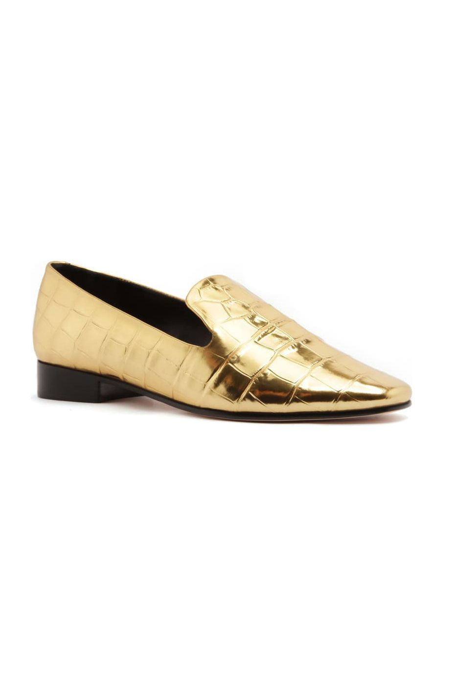 T-JULY Women Winter Shoes Fur Flats Fashion Moccasins Bootie Slip On Loafer Thick Warm Cool Gold Metal Footwear