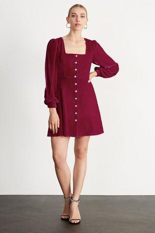 Mini robe en velours rose Maria