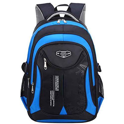 WELLDAY Kid Backpack Grey Elephants Durable Schoolbag Casual Daypack for Boys Girls