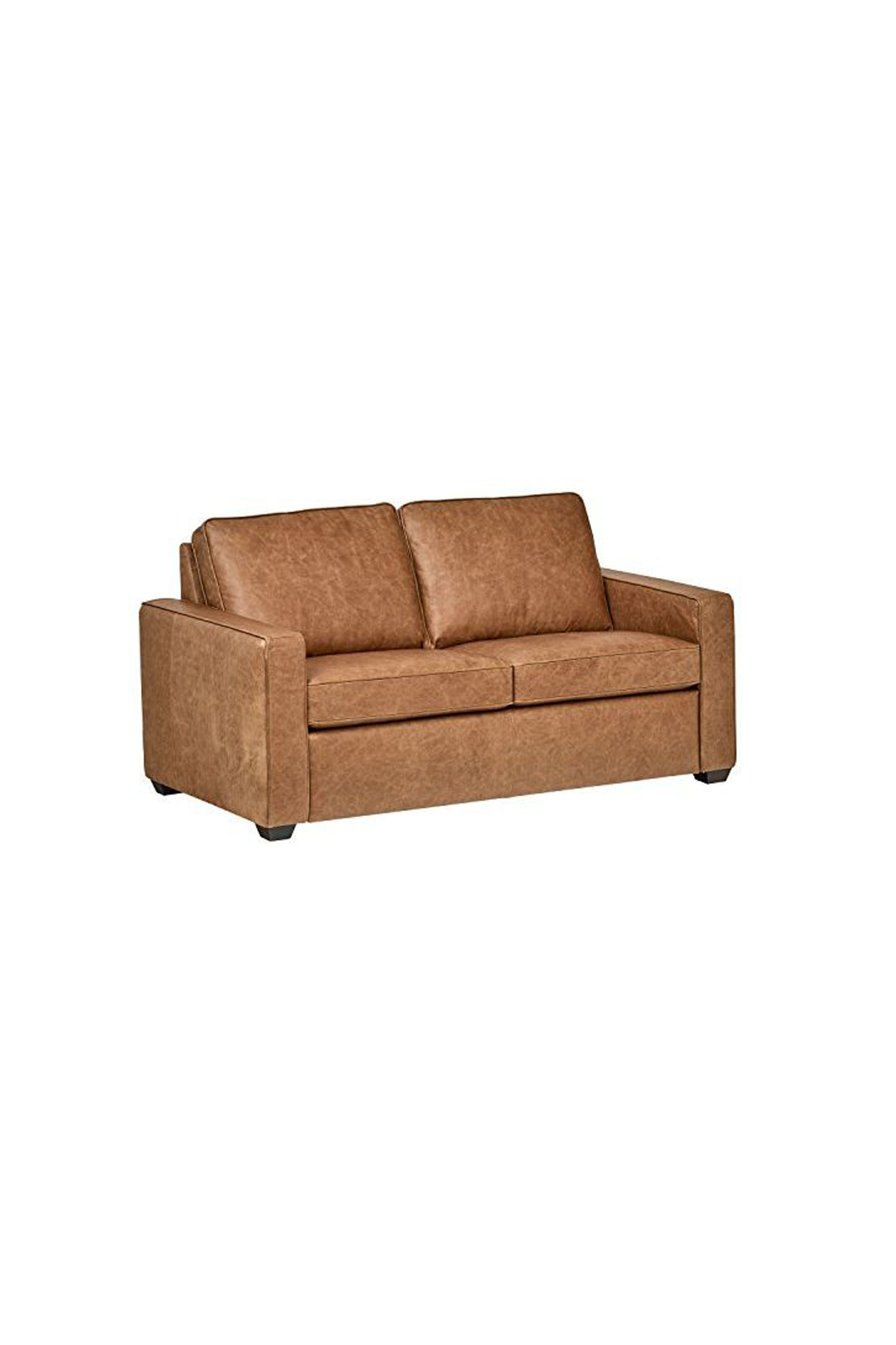 Superb Rivet Andrews Contemporary Top Grain Leather Sofa Evergreenethics Interior Chair Design Evergreenethicsorg