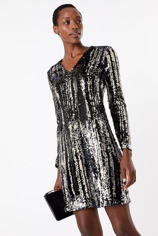 M&S Collection - Robe courte à effet scintillant