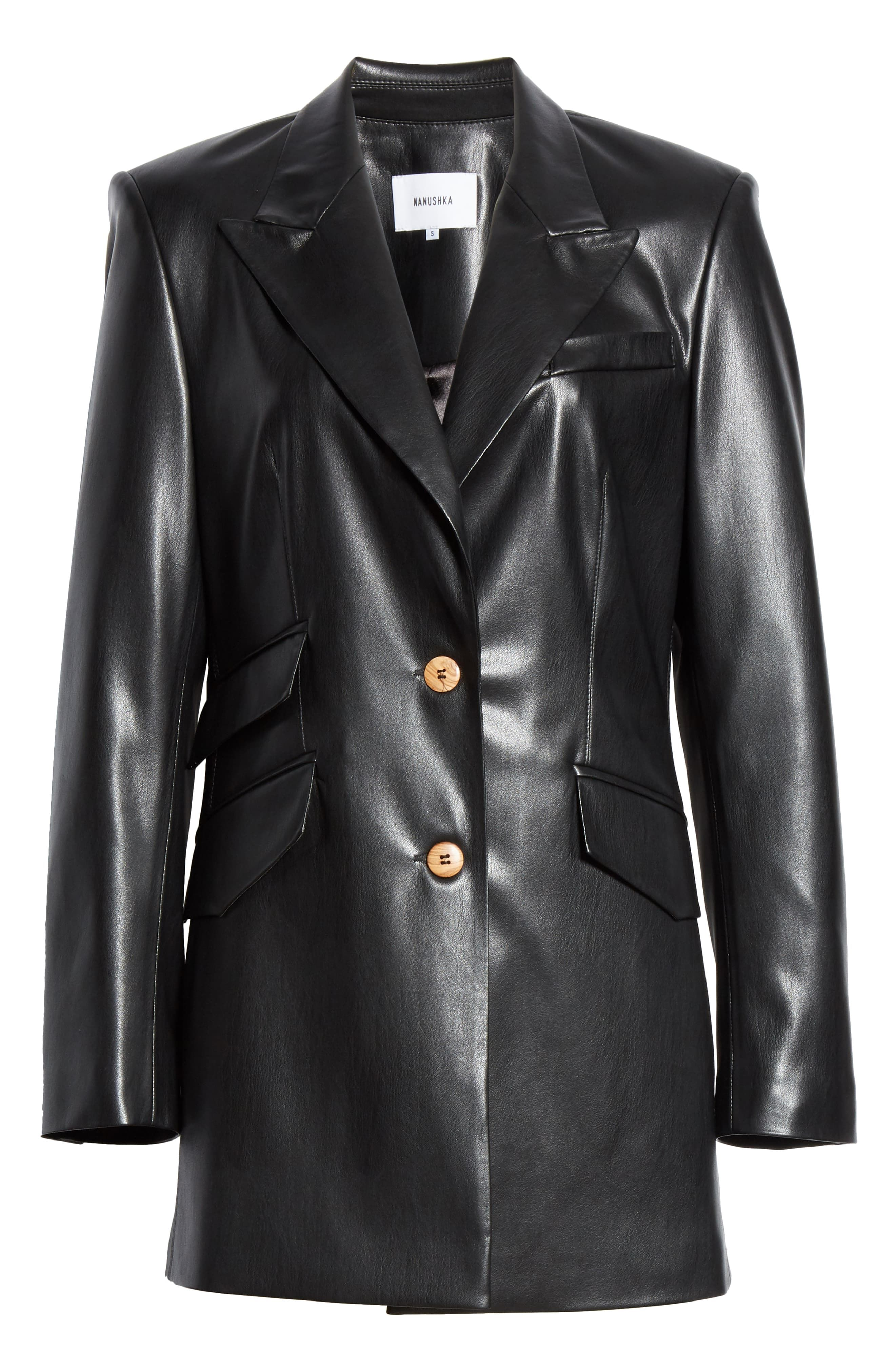 Women's leather Coat black color Key | Fall Winter Women's