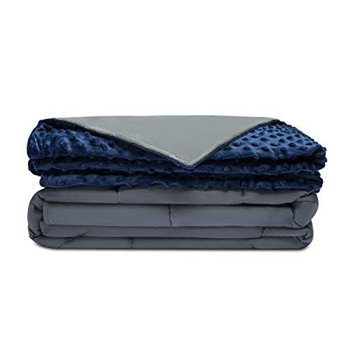 ZonLi Premium Weighted Blanket 60/'/'x80/'/',20lbs Grey Cotton with Glass Beads