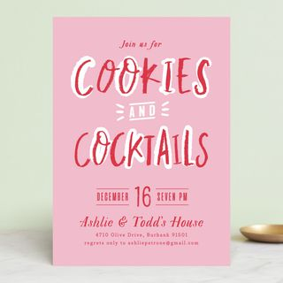 Cookies and Cocktails Invitations