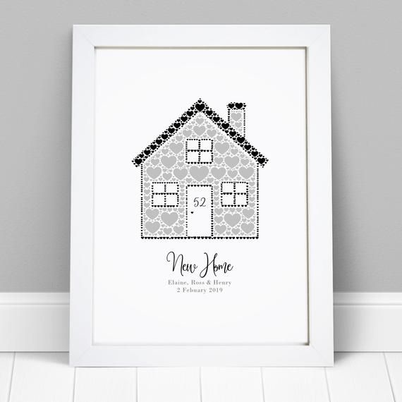 Personalised New Home Housewarming 1st First House Warming Gift Print Present