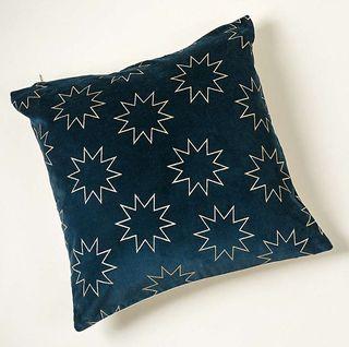 Foiled Star Navy Cushion