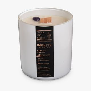 Wicks and Stones Infinity Amethyst Scented Candle, 780g