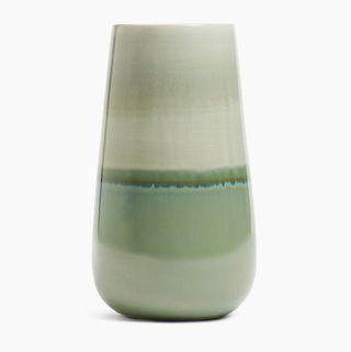 Tall Reactive Glazed Vase