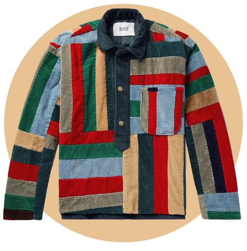 Patchwork Wool-Corduroy Overshirt