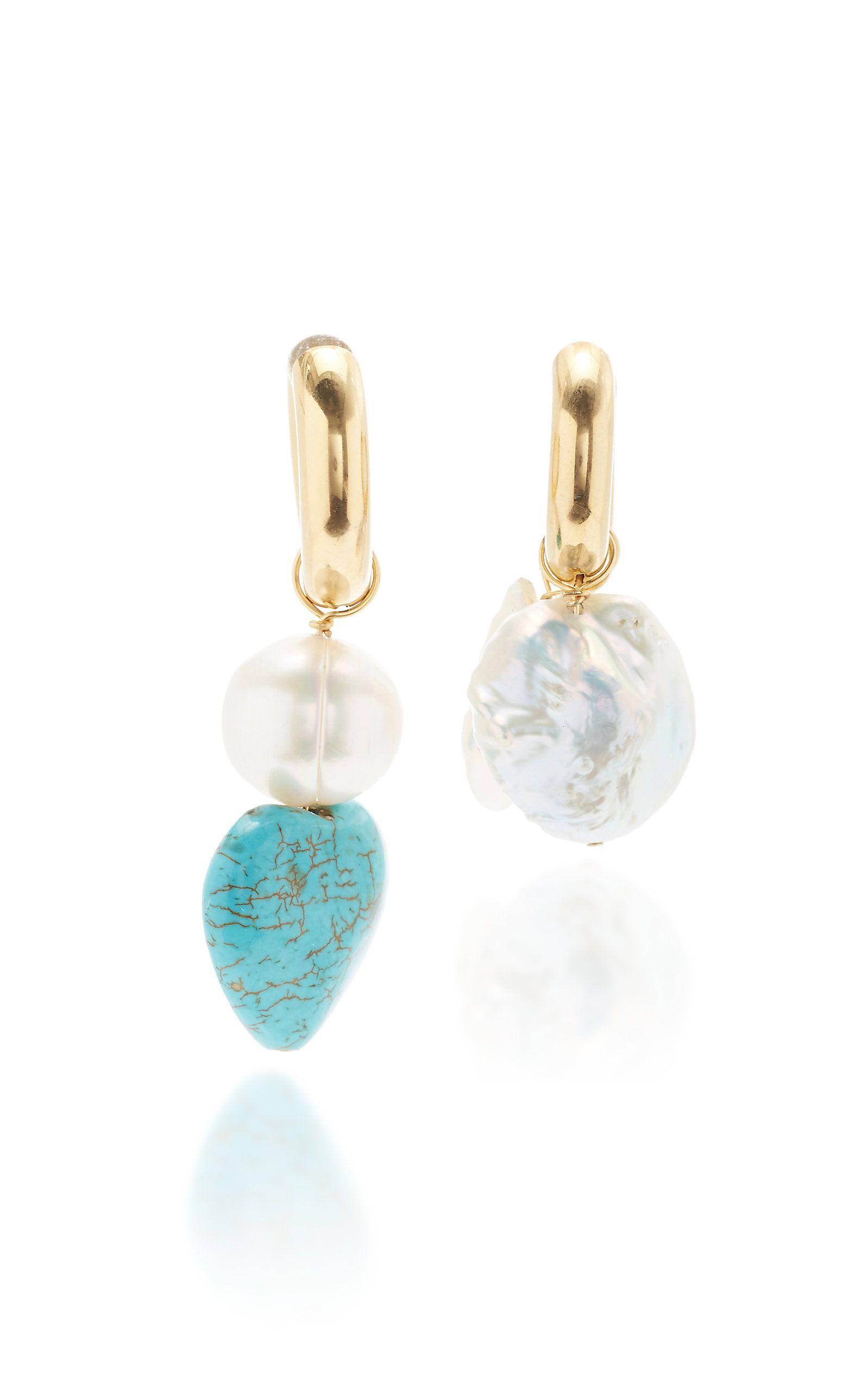 New Turquoise Bead Gemstone Bracelet Earrings Stud Beaded Fashion BOHO Design UK