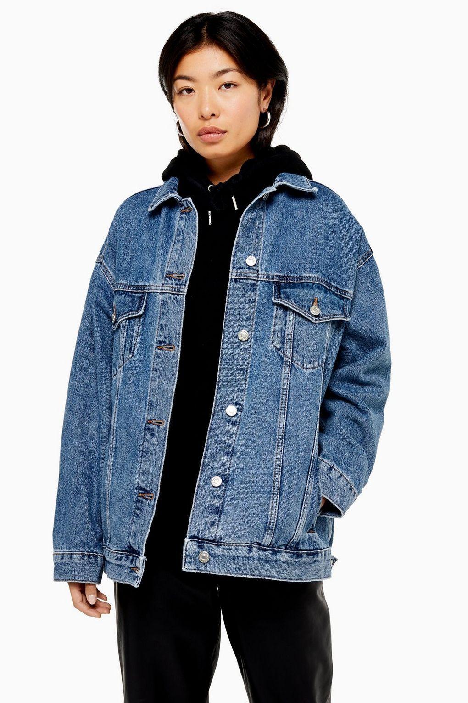 Blue Denim Jacket Vintage Blue Denim Button Up Jacket Oversize Denim Coat Vintage Jean Jacket Bright Blue Denim Jacket Oversize Vintage Blue