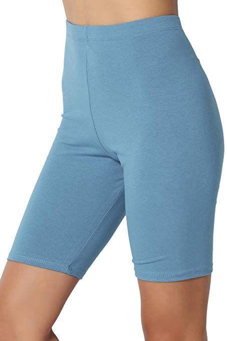 Short Cotton Bike Shorts Cycling Shorts Soft Colors Biker Shorts