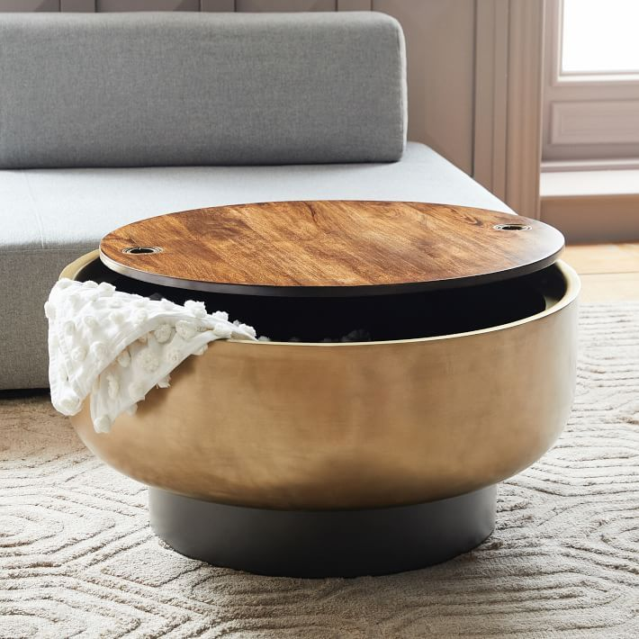 25 Cool Coffee Tables With Storage, Storage Ottoman Table Round