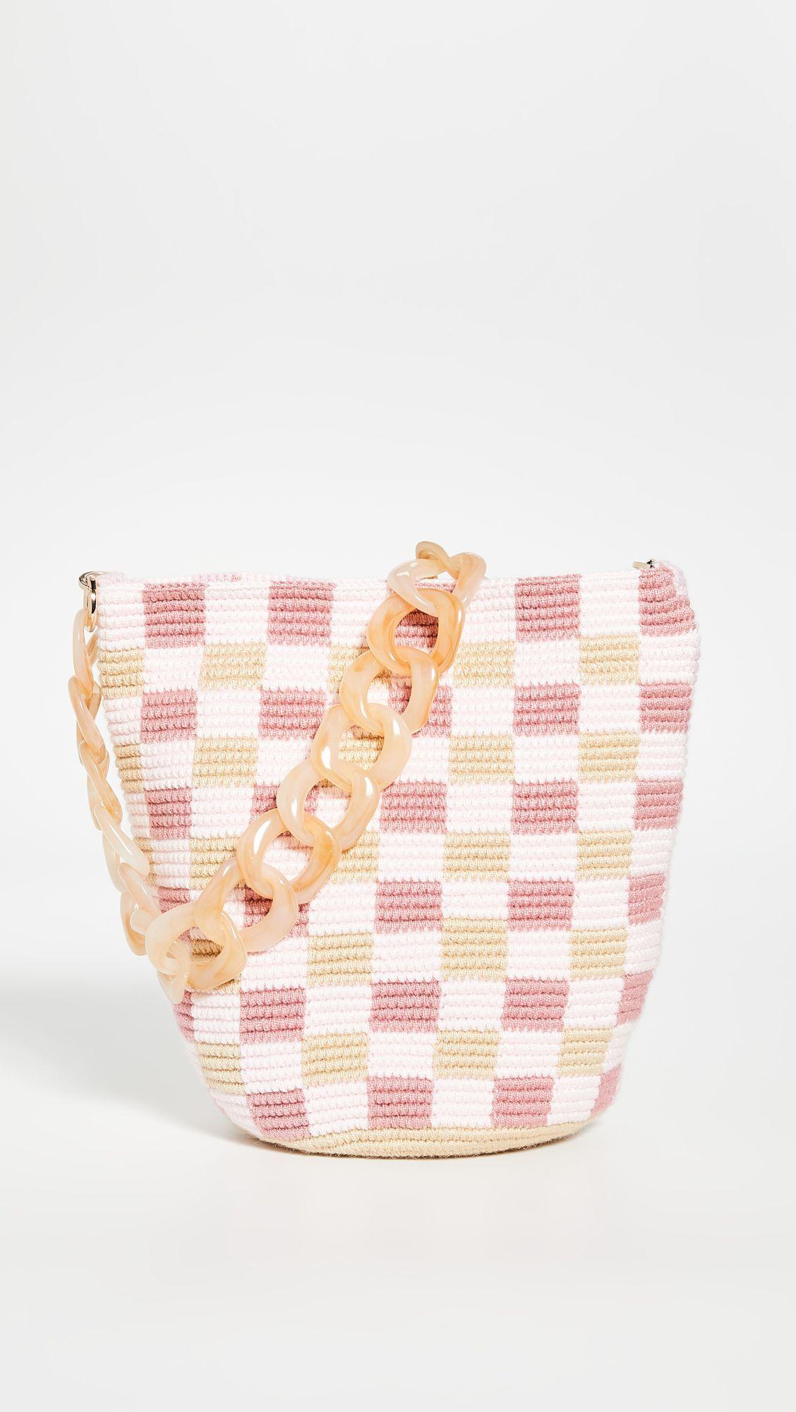 Ladies 2-in-1 Shopper Bag /& Clutch Floral Checkered Pattern Ladies Shoulder Bag