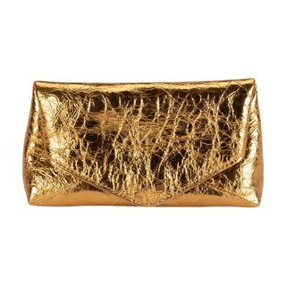 Small Metallic Envelope Clutch Bag