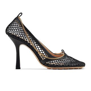 Mesh Square-Toe Pump