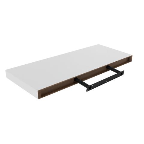 White Floating Shelf