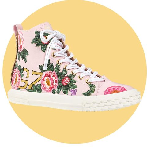 Floral Blabber High-Top Sneaker