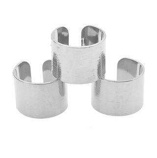 Brushed Metal Knuckle Rings