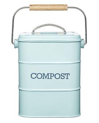 Vintage Blue Compost Bin