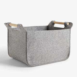 Felt Storage Basket with Ash Handles
