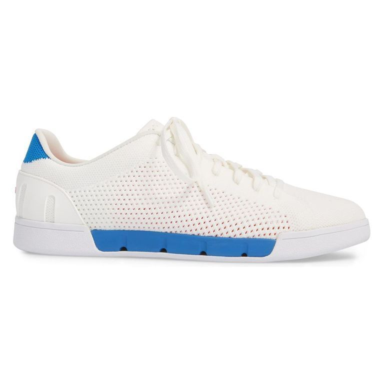 SWIMS Mens Breeze Knit Tennis Sneakers 12 M US White//Court Green