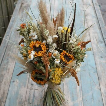 Bouquet of dried flowers Mini beige and orange