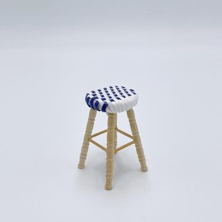 Navy Bistro Stool For Dollhouse