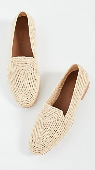 peach colored loafers
