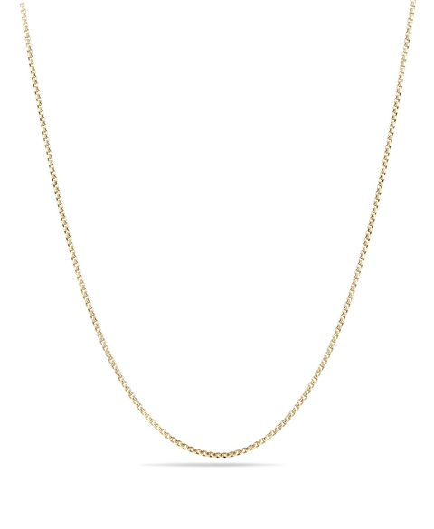 Box Chain Necklace in 18K Gold