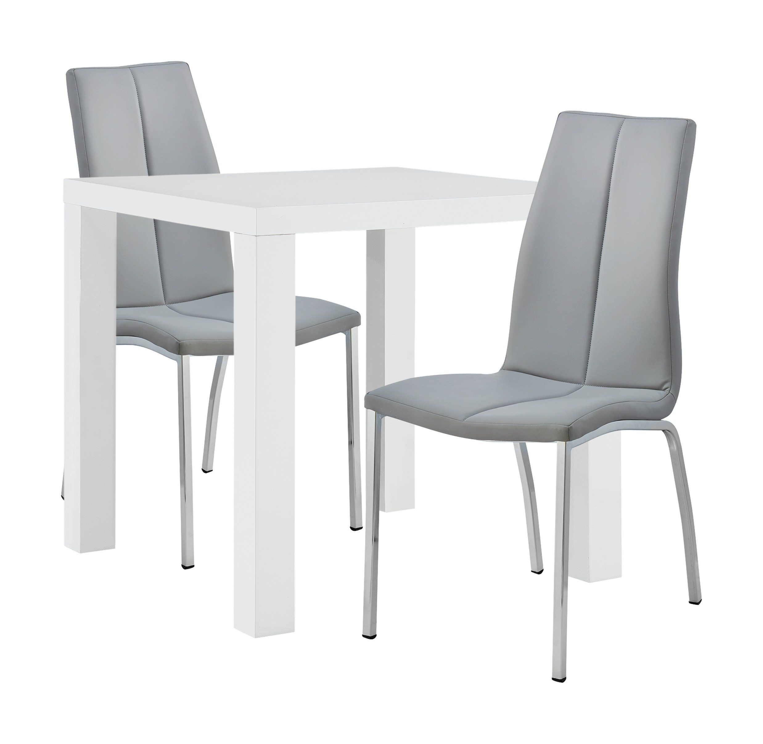 80 cm Round White Table /& 2//4 Blue Chairs Sets Kitchen Dining Room Wooden Modern