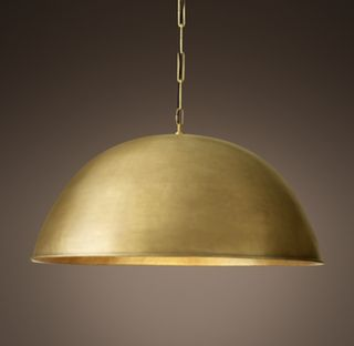 Grand Brass Dome Pendant