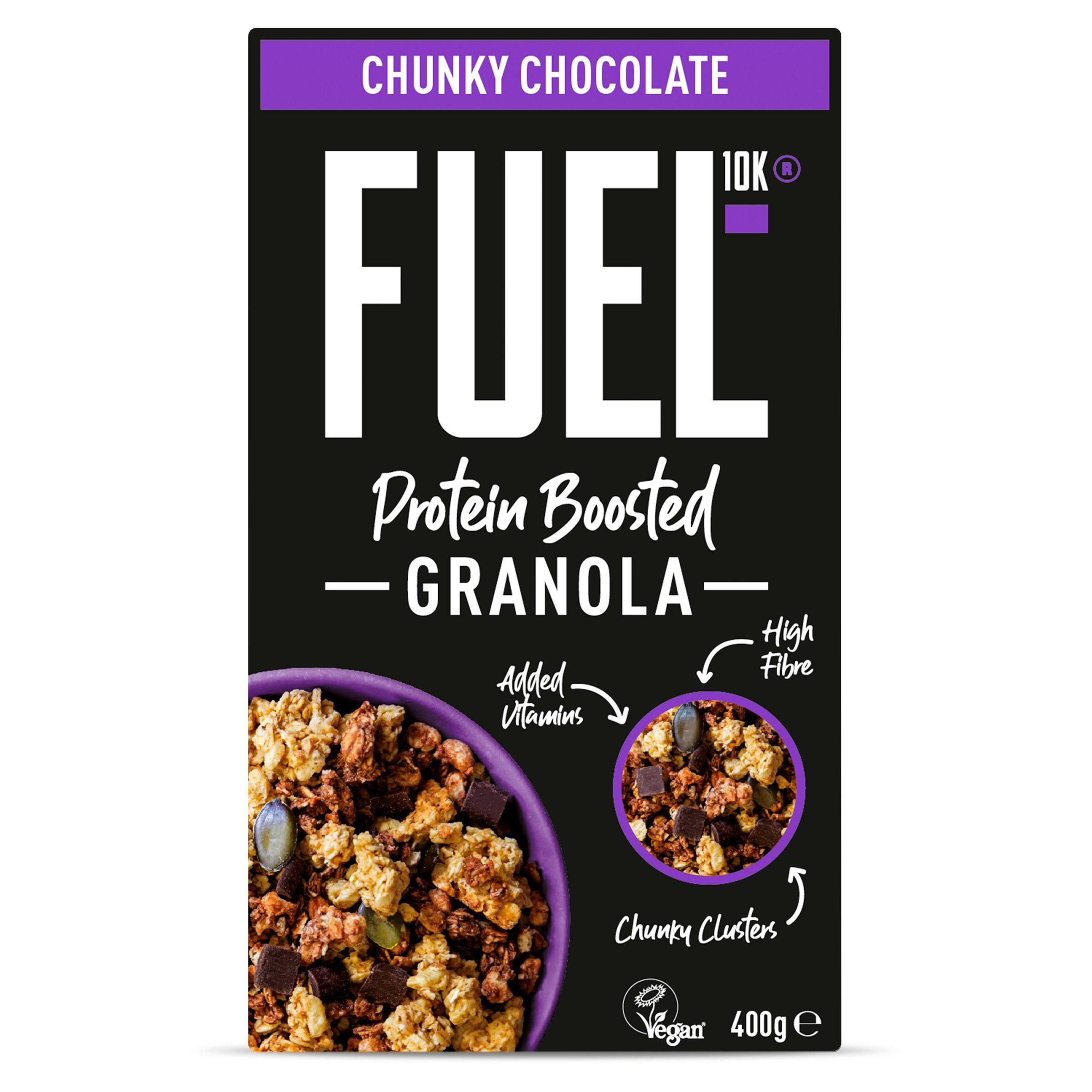 FUEL12K Protein Boosted Chocolate Loaded Chunky Granola