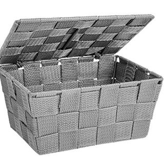 Storage basket Adria with lid in grey