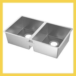 NORRSJÖN Double bowl dual mount sink