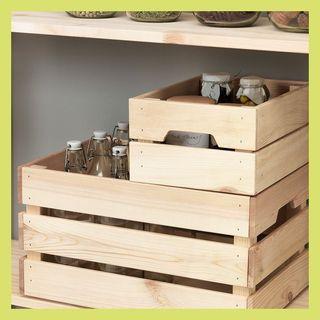KNAGGLIG wood box