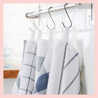 ELLY dish towels, white/blue