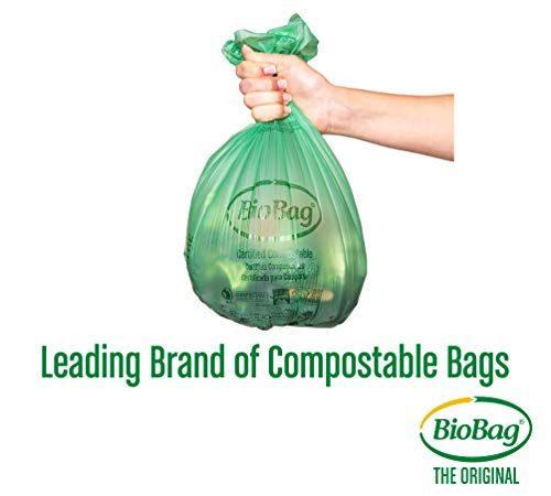 BioBag Kitchen Counter Food Scrap Bin and Compostable Bag Kit