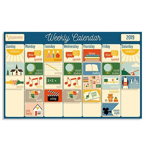16 Best Daily Schedules For Kids Visual Calendars For 2020