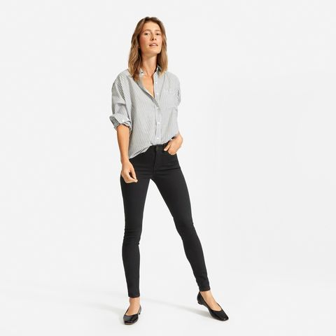 The Authentic Stretch Mid-Rise Skinny Jean (Regular) - Black