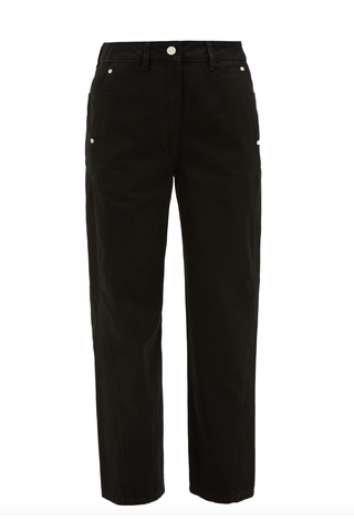 Twisted Cropped Straight-Leg Jeans