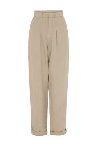 Silk Linen Trousers