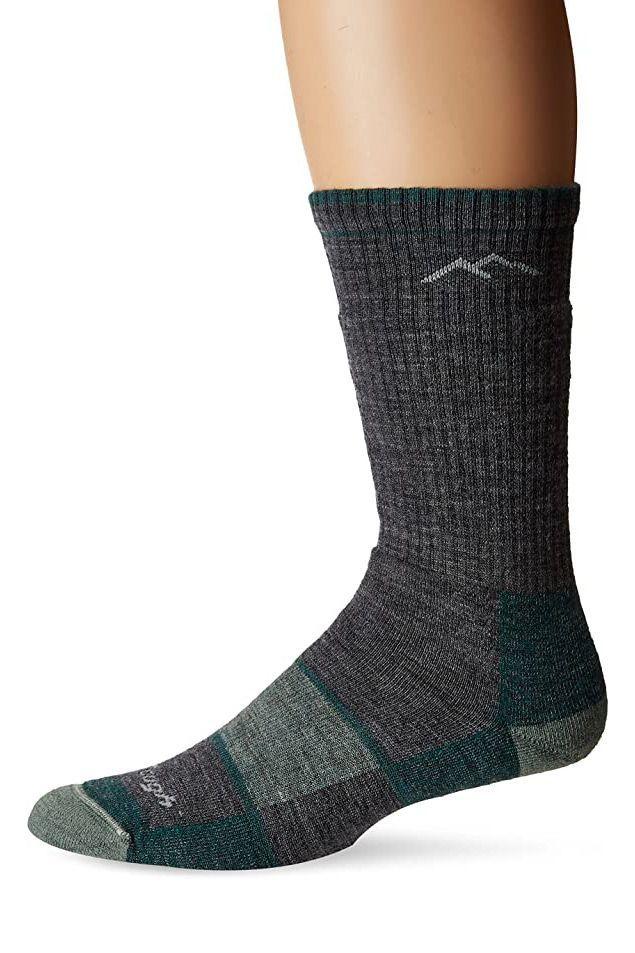 Mens Womens Hiking Wool Blend Thick Padded Crew Socks