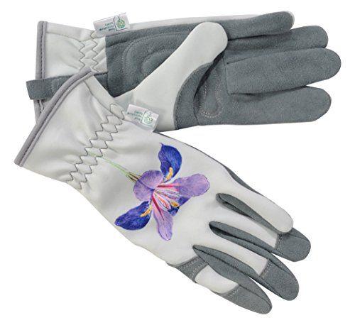 RHS Tough Tips Ladies Gardening Gloves Lavender Size Medium
