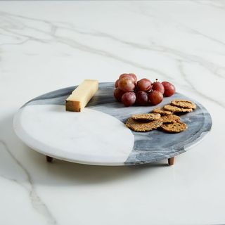 Marble & Copper Footed Cheese Board