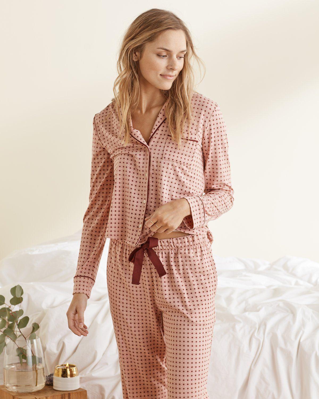 Pyjama top women Cyberjammies Mia Tissé À Manches Courtes Spot Print Party Top
