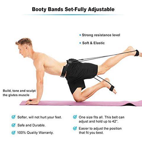 ejercicios gluteos con gomas elasticas
