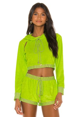 Cropped Hoodie in Neon