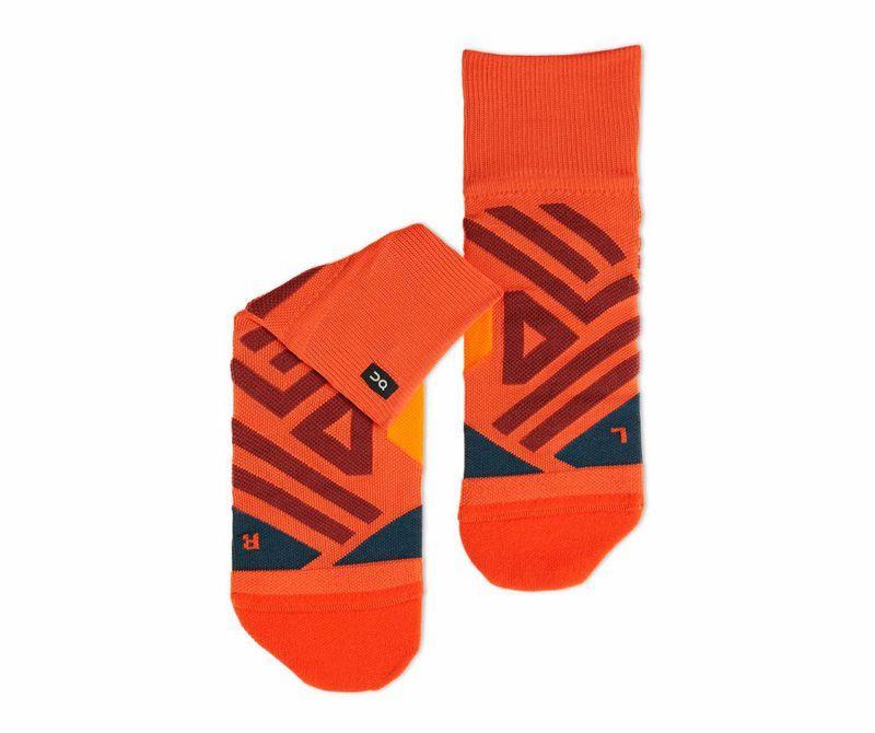 Mid calf length . LIGHT PLUM COLOUR patterned nylon socks