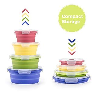 Collapsible food storage containers
